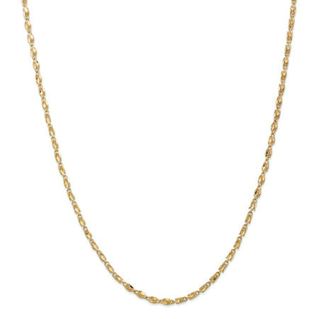 14K Yellow Gold 2.5mm Marquise Chain 18 Inch - image 5 of 5