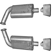 Gibson Exhaust 618002 GIB618002 08-09 PONTIAC G8 6.0L LS-2 DUAL EXHAUST SYSTEM