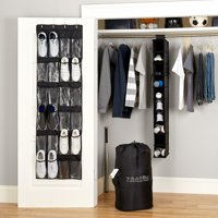 Mainstays 4-Piece Closet Organizer Set (Black)
