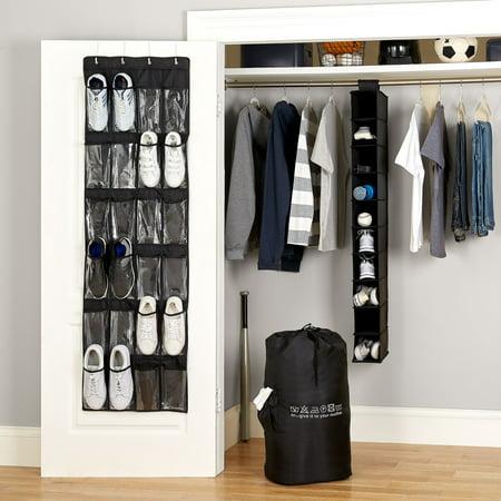 Mainstays 4-Piece Closet Organizer Set, Black ()