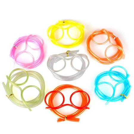 Creative Fun Eyeglasses Straw Crazy Design DIY Silly Transparent Funny Stylish Cartoon Plastic Gift for Kids](Funny Eyeglasses)