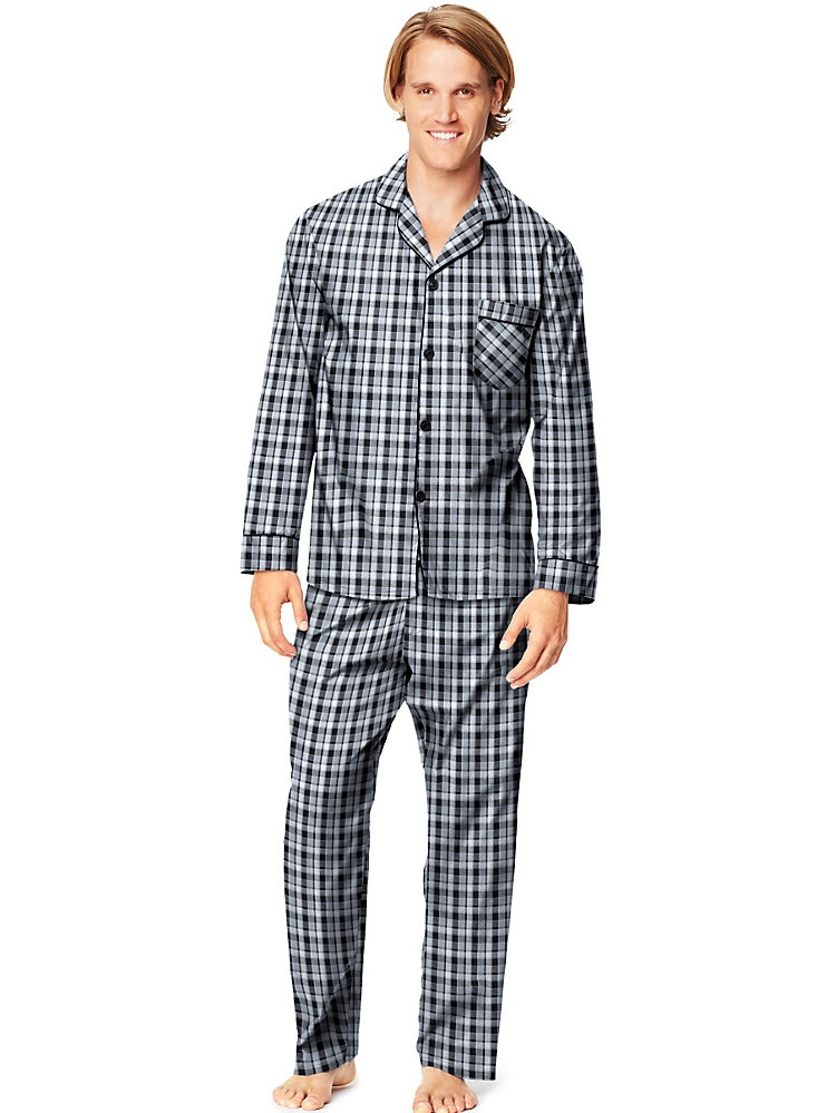 Hanes Men's Woven Pajamas LSLLBCWM/LSLLBCWMB