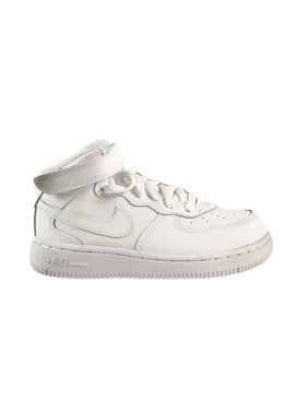 Nike Force 1 Mid Toddlers' Shoes White/White/White 314197-113