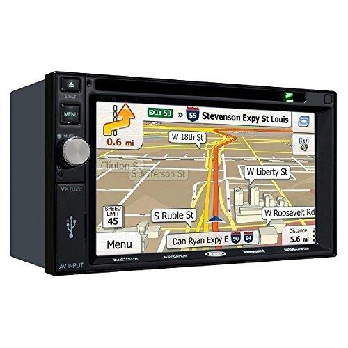 "Jensen VX7022 2 DIN Multimedia Receiver, 6.2"" Touch Screen with Bluetooth, SiriusXM by Jensen"