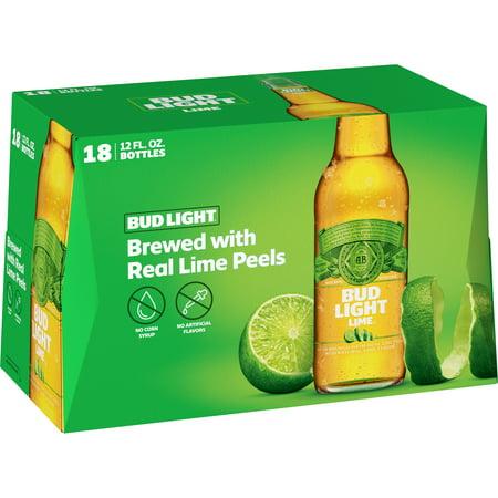 Bud Light Lime Beer 18 Pack 12 Fl Oz Bottles Walmart Com