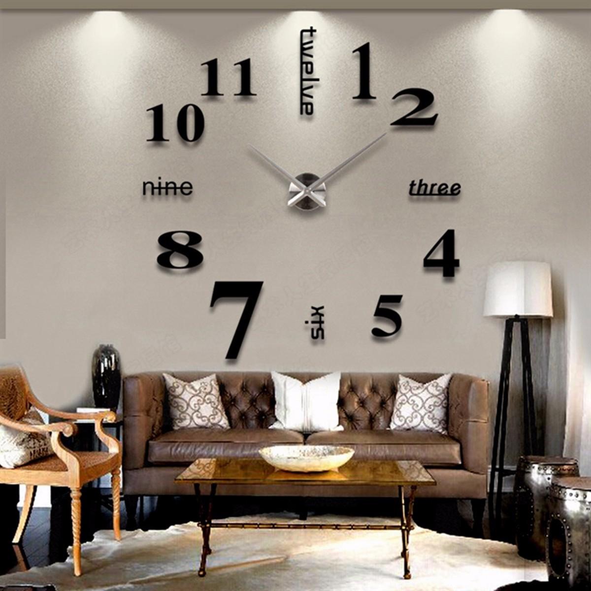 AD/_ Silent Wall Clock Quartz Movement Mechanism Hand DIY Replacement Part Set Fi