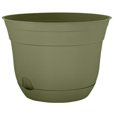 Suncast 16 7 Self Watering Planter Green Walmart Com