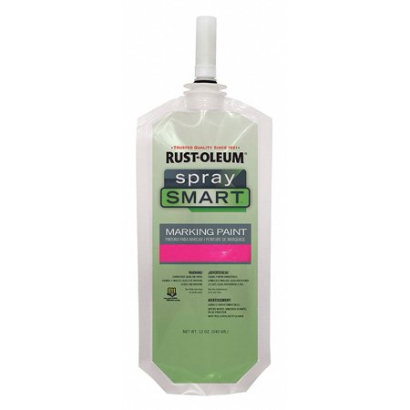 Solvent-Base Propellant-Free Marking Paint, Fluorescent Pink, 10.5 oz. ()