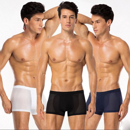 Seamless Mens Underwear - Mens Underwear Breathable Comfy Ice Silk Boxer Briefs Shorts Seamless Underpants