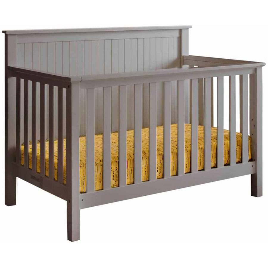 Lolly & Me Americana 4-in-1 Convertible Crib Pebble gray