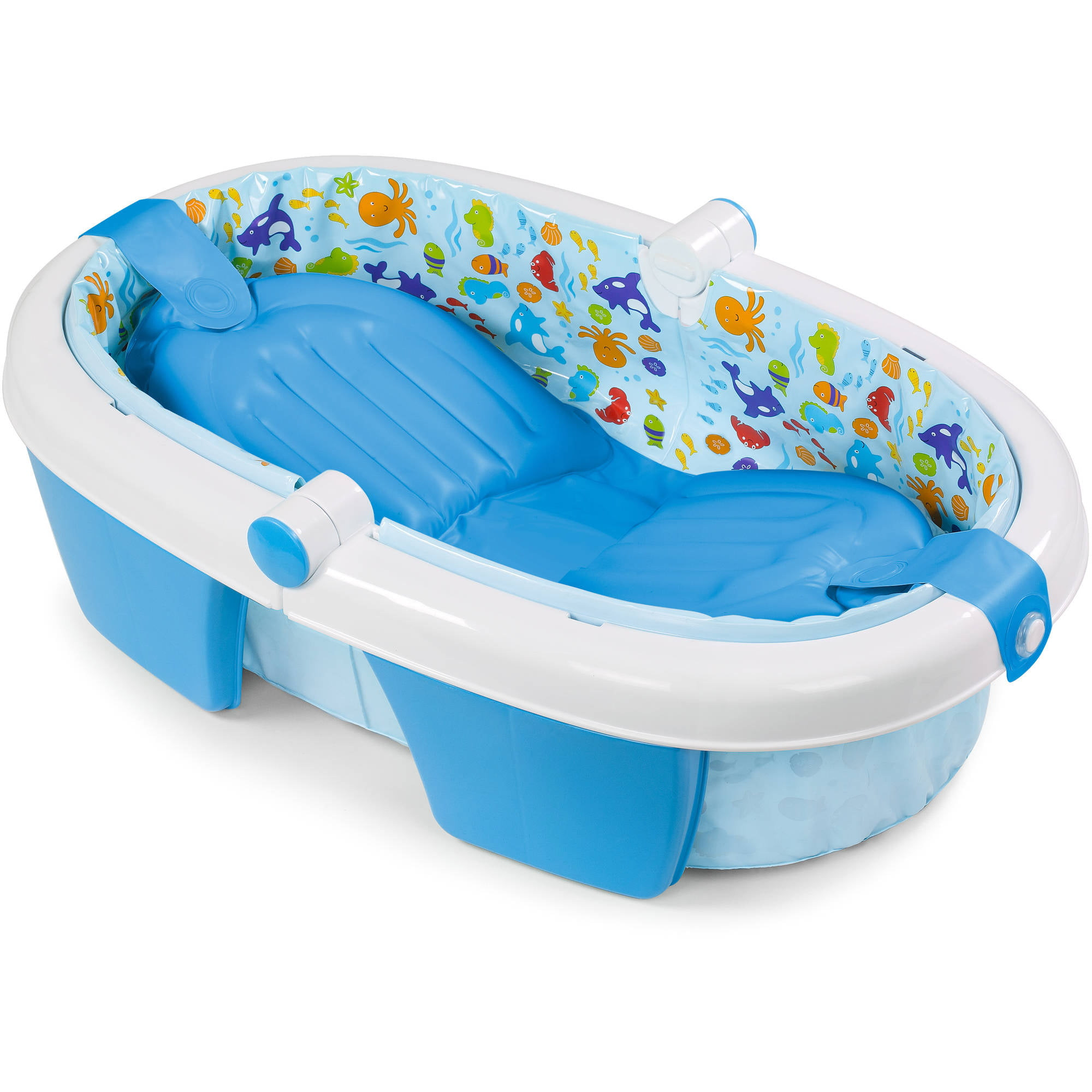 the first years sure comfort deluxe newborn to toddler tub blue walmartcom