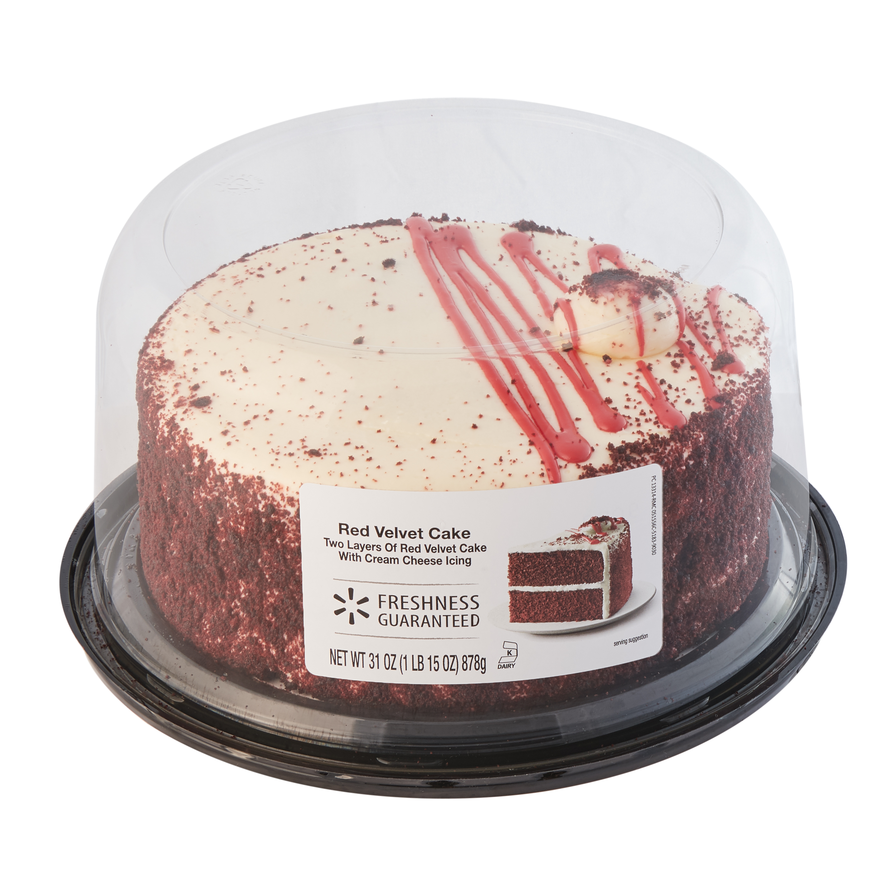 Marvelous Freshness Guaranteed Red Velvet Cake 31 Oz Walmart Com Funny Birthday Cards Online Overcheapnameinfo