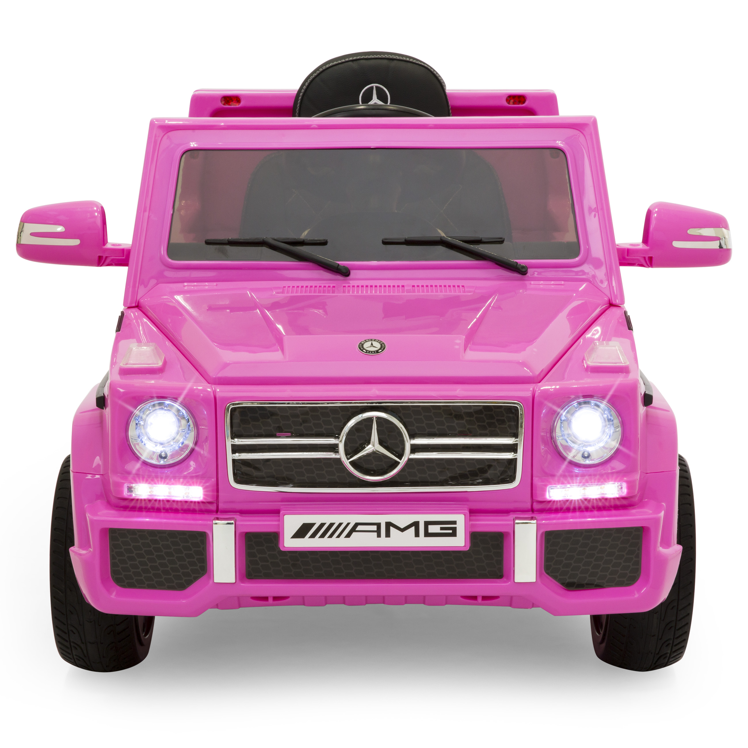Best Choice Products 12V Licensed Mercedes-Benz G65 SUV Ride On Car w/ Parent Control Built In Speakers AUX Jack - Pink