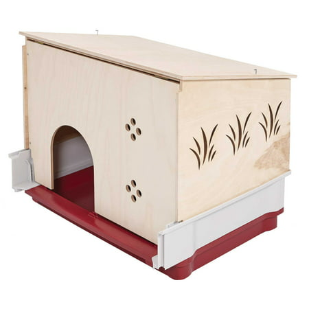Wood Hutch for Wabbitat Deluxe Rabbit Cage