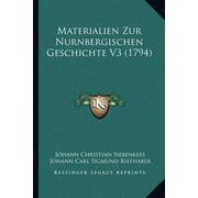 Materialien Zur Nurnbergischen Geschichte V3 (1794)