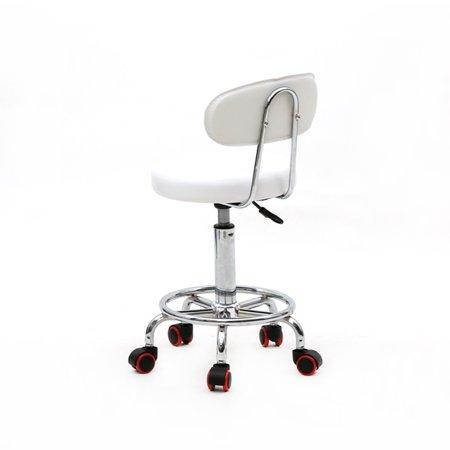 Ktaxon Adjustable Hydraulic Swivel Stool Beauty Spa Salon White Stripe Chair & Backrest - image 3 de 4