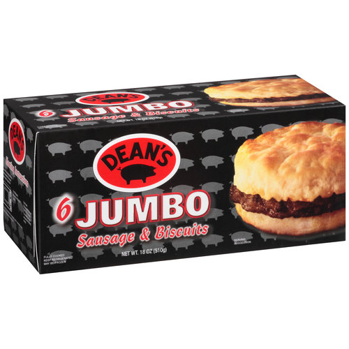 Dean's Jumbo Sausage and Biscuits, 6 count, 18 oz