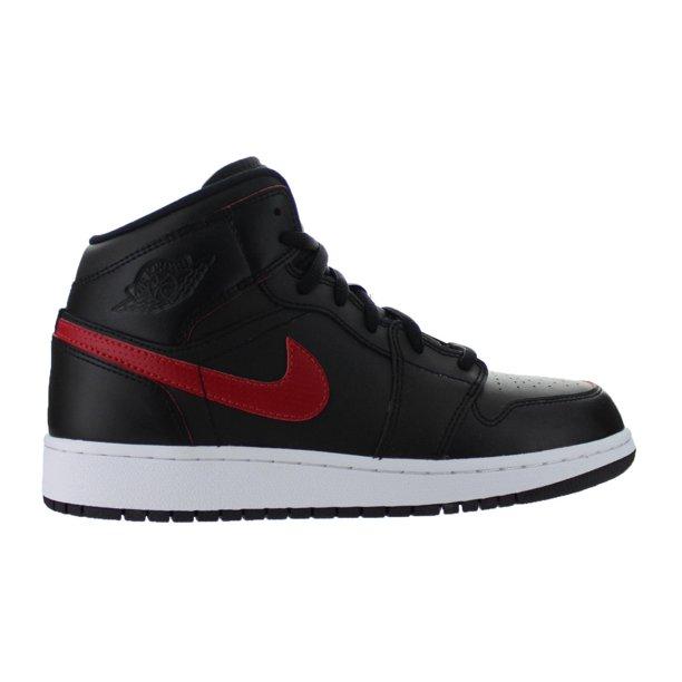 Kids Air Jordan 1 Mid GS Black Gym Red White 554725-009