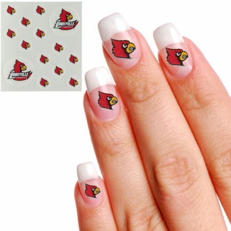Louisville Cardinals Waterless Fingernail & Face Tattoos - No Size](Cardinal Tattoo Ideas)