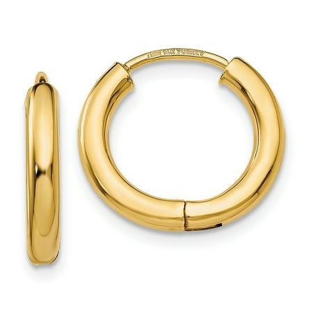 14k Yellow Gold Hoop Earrings Ear Hoops Set Fine Jewelry Gifts For Women For Her - image 8 de 8