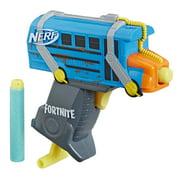 Nerf Fortnite Micro Battle Bus Nerf MicroShots Dart-Firing Toy Blaster and 2 Official Nerf Elite Darts