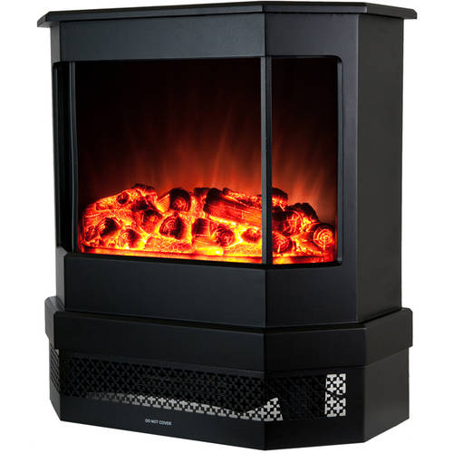 "AKDY FP0030 23"" 1500W Freestanding Electric Fireplace Stove Heater with Tempered Glass, Realistic Flame and Logs,... by AKDY"