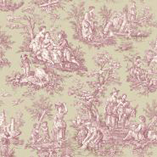 Waverly Classics Country Life Wallpaper, Medium Taupe/Cranberry/Cream