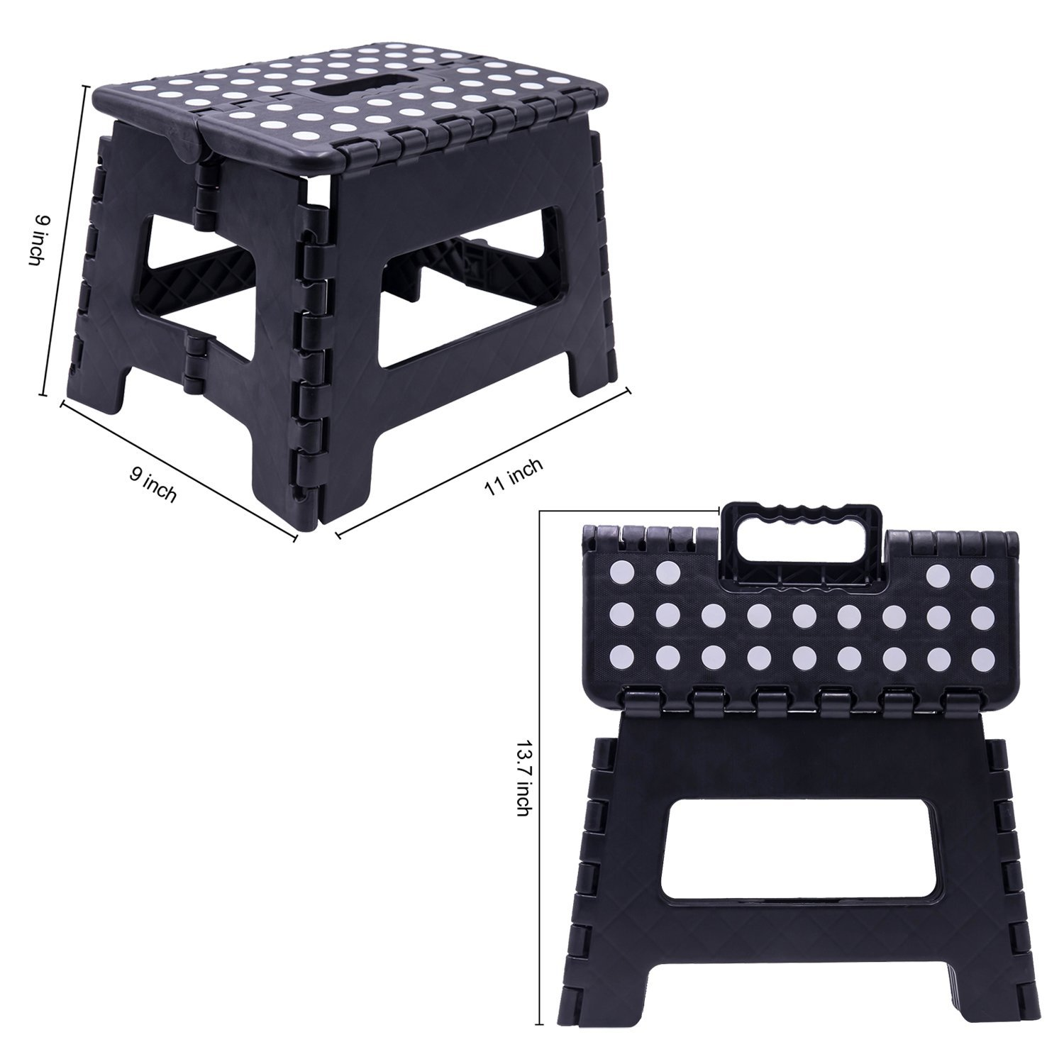 Foldable Stool For Kids /& Adults 9 inch Height Folding Step Stool