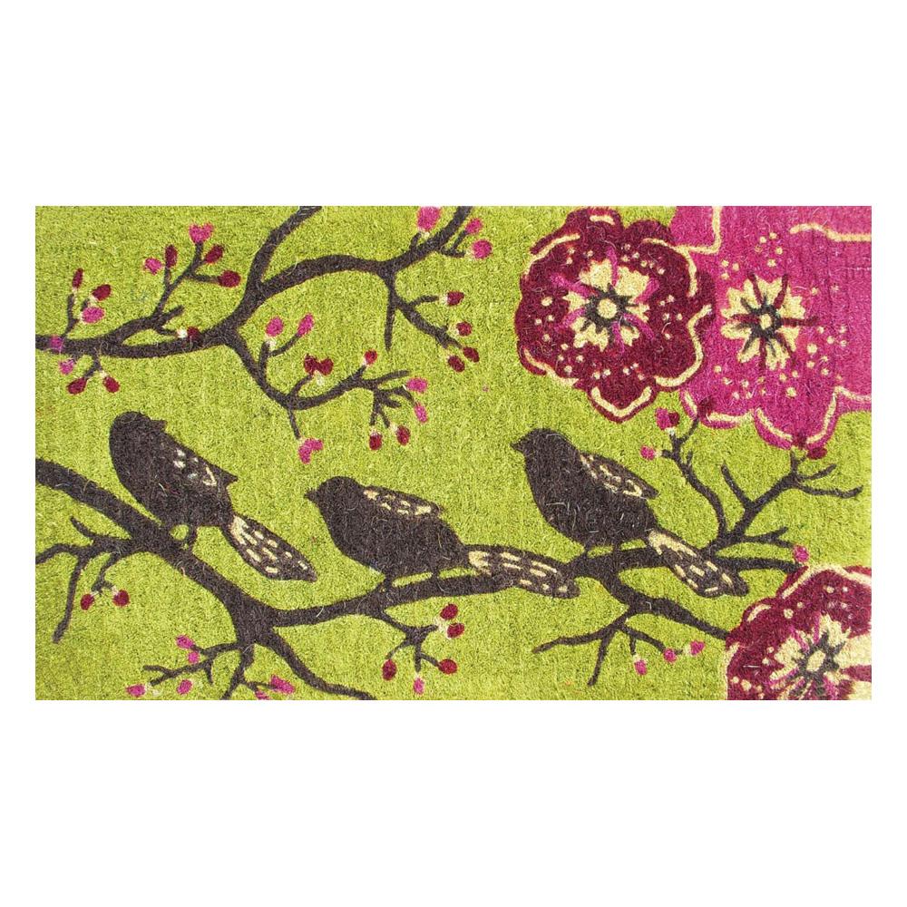 Three Little Birds Coir Mat