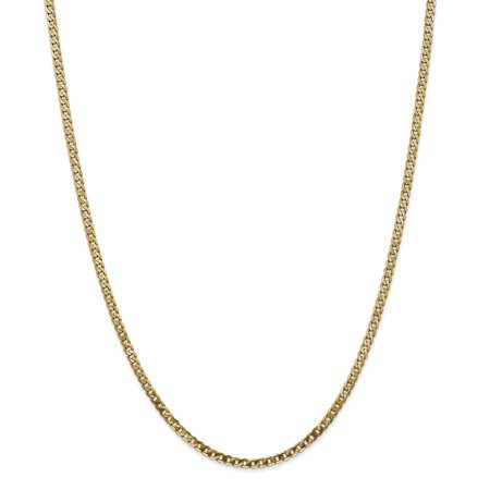 Roy Rose Jewelry Leslies 14K Yellow Gold 2.9mm Beveled Curb Chain Necklace ~ Length 20'' inches