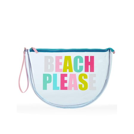 No Boundaries Jelly Half Moon Beach Pouch (Best Beach Bag Ever)