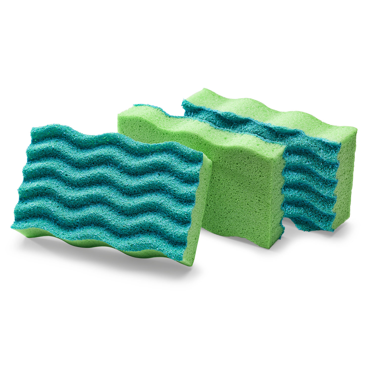 Libman Anti-Bacterial Sponges, Green, 3 count