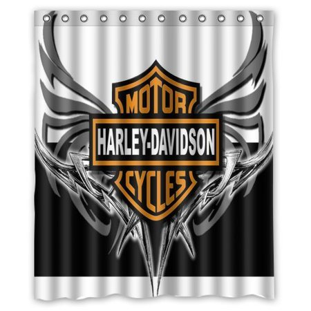 DEYOU gorgeous retro Harley Davidson II Shower Curtain Polyester Fabric Bathroom Shower Curtain Size 60x72 inch