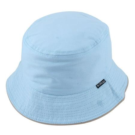 Fisherman Woman Fishing Holiday Hunting Sun Protective Cap Bucket Hat Light Blue