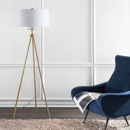 Safavieh Enrica 66-Inch High Glam Floor Lamp, Brass Gold