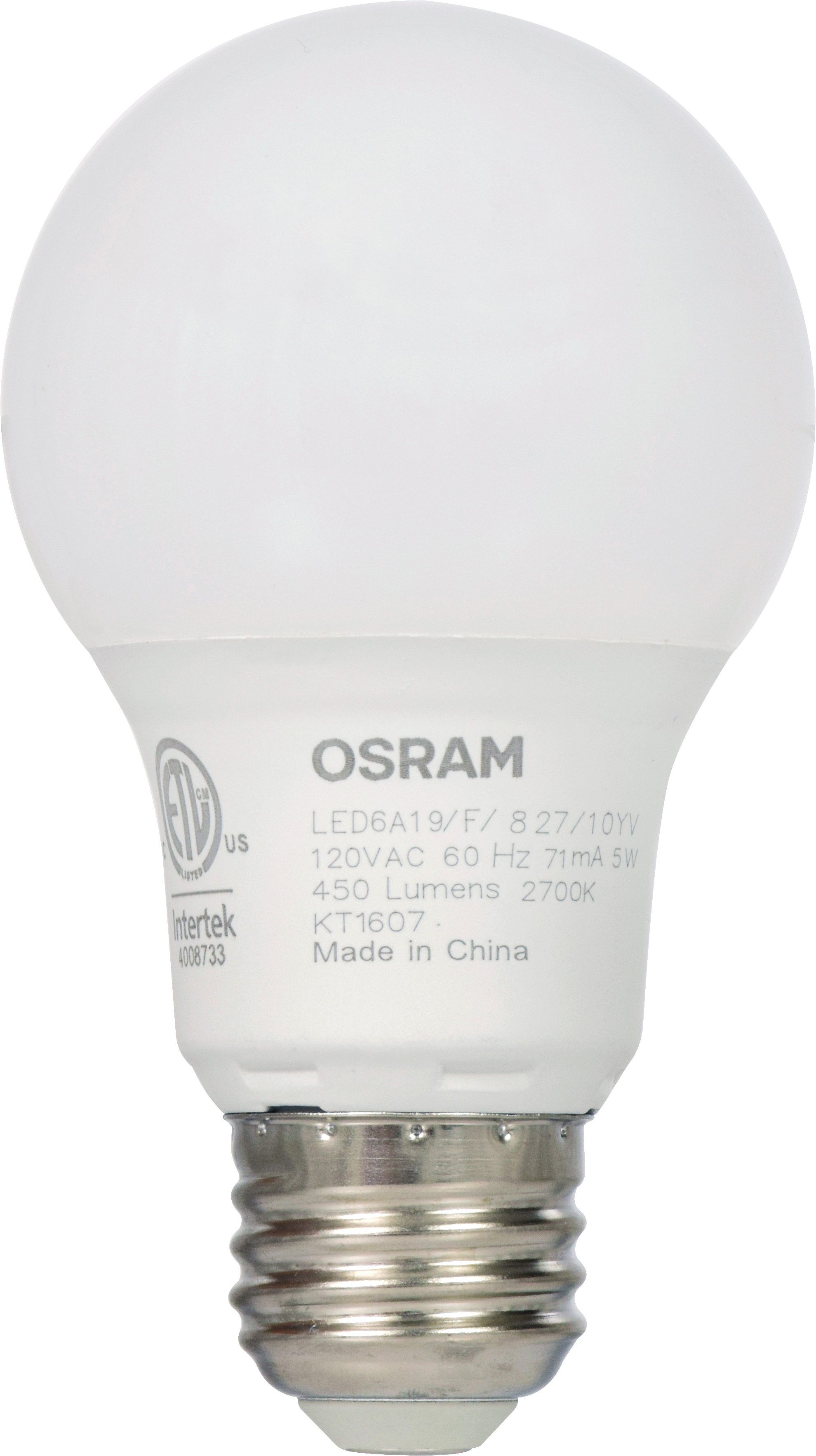 sylvania led light bulb 40w equivalent a19 soft white 2700k 2 pack