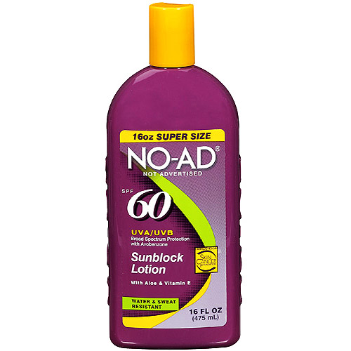 No AD Sunblock Lotion SPF 85 16 oz - Free Shipping