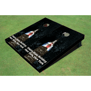 Empire State Building At Night Themed Cornhole Boards