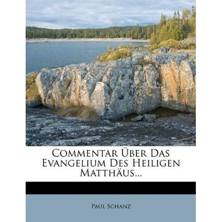 Commentar Uber Das Evangelium Des Heiligen Matth Us... - image 1 of 1