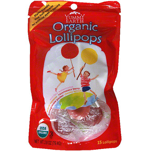 Yummyearth Organic Fruit Lollipops, 3 oz (Pack of 6)