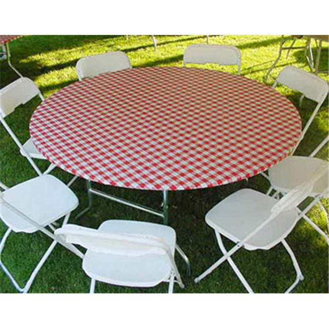 Kwik-Covers 72-Rw 72 Inch Round Kwik-Cover- Red Gingham- Pack of 25