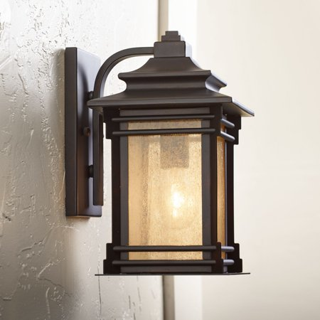 Franklin Iron Works Hickory Point 12 High Walnut Bronze Outdoor Wall Light