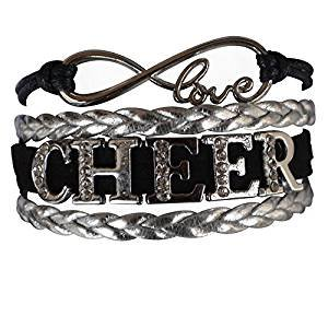 Girls Cheerleading Bracelet, Cheer Gifts- Cheer Jewelry- Cheer Bracelet- Adjustable Cheer Charm Bracelet- Gift For Cheerleaders, Cheer Teams & Cheerleading - Cheer Jewelry