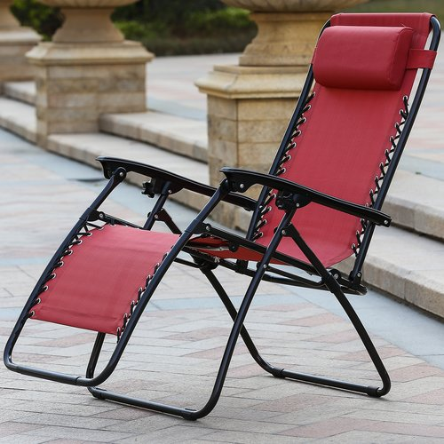 Freeport Park Reclining Folding Zero Gravity Chair