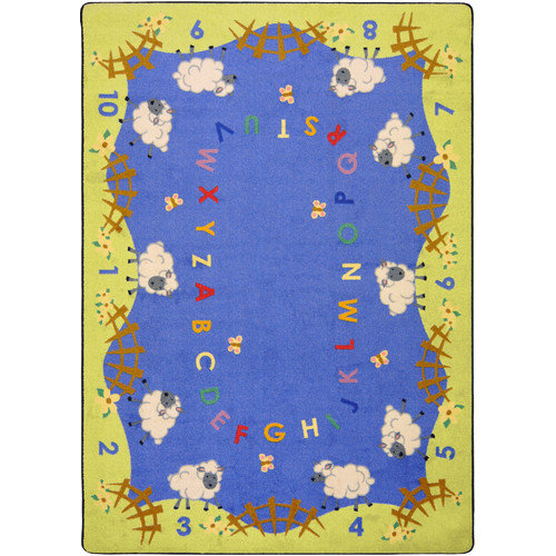 "Joy Carpets Kid Essentials - Infants & Toddlers Lamby Pie, 5'4"" x 7'8"", Multicolored"