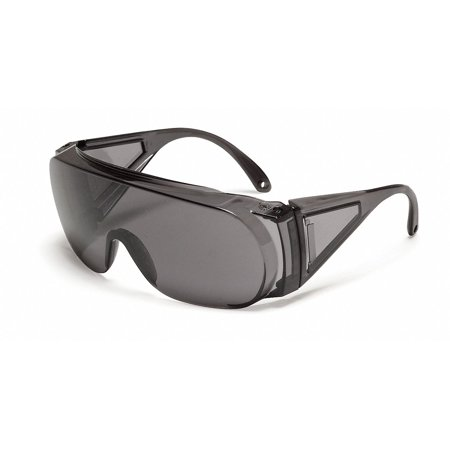Polysafe Uncoated Safety Glasses, TSR Gray Lens Color