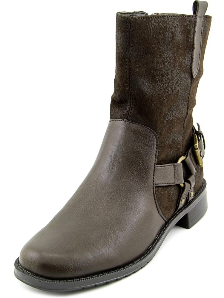 Aerosoles Outrider Women Round Toe Synthetic Brown Mid Calf Boot by Aerosoles
