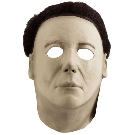 Miamax Halloween H20 Michael Myers Deluxe Full Head Mask, Beige, (Michael Myers Mask Aus Rob Zombie's Halloween)