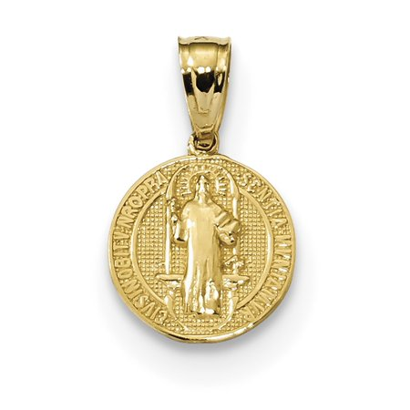 14k Yellow Gold San Benito 2 Sided Round Small (San Bruno Pendant)
