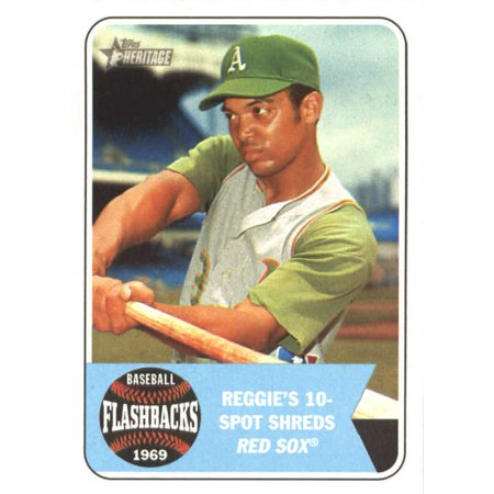 2018 Topps Heritage Baseball Flashbacks Bf Rj Reggie Jackson Oakland Athletics Baseball Card